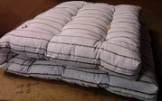 Матрацы ватные,  одеяла полиэфирные,  подушки и КПБ для рабочих